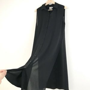 Asos Button Down Long Tunic Top With High Slit